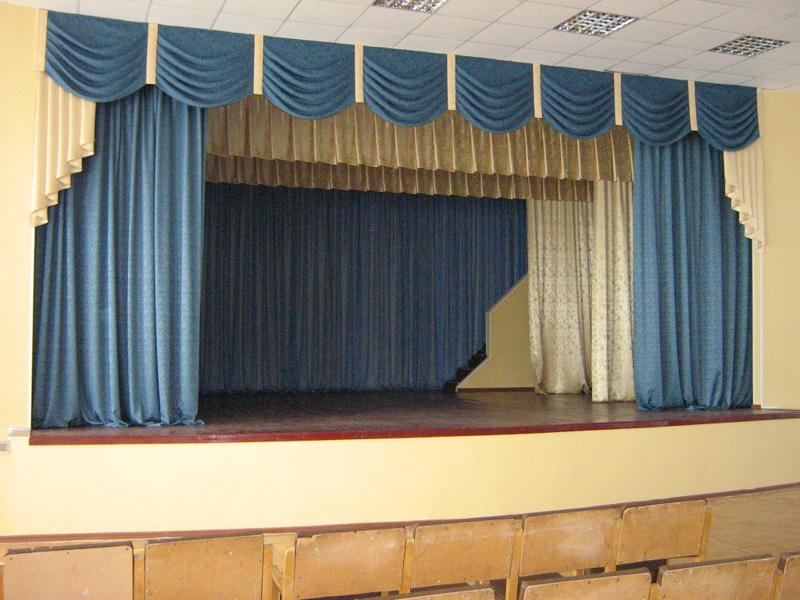 Шторы в актовый зал фото